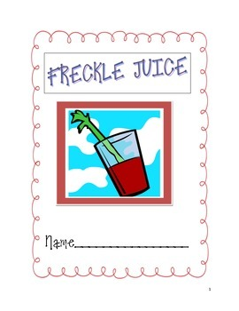Freckle Juice packet and test