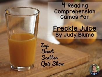 Freckle Juice reading comprehension GAMES - 4 in 1!