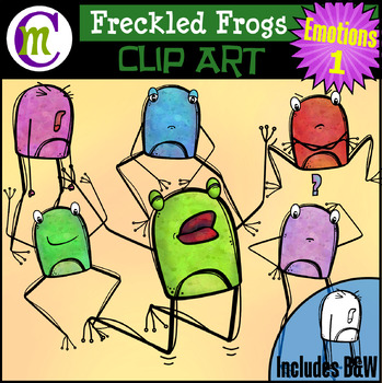 Freckled Frogs Clip Art | Emotions 1