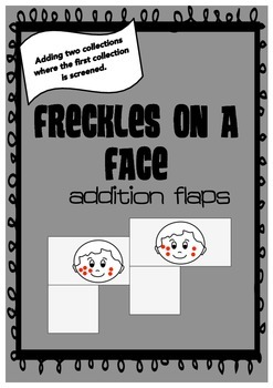 Freckles on a face addition flaps for subitising and counting-on