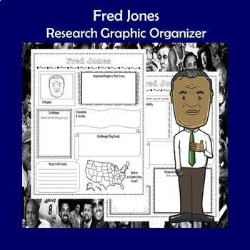 Fred Jones Biography Research Graphic Organizer