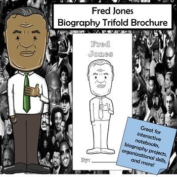 Fred Jones Biography Trifold Brochure