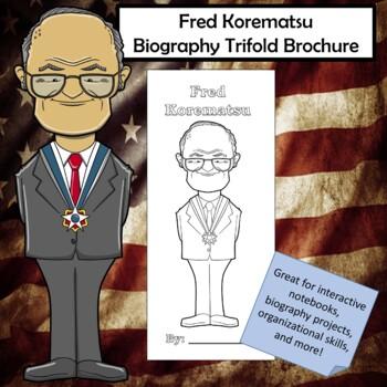 Fred Korematsu Biography Trifold Brochure