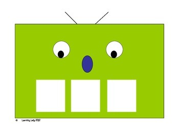 Fred The Robot Phonics Phoneme Frames