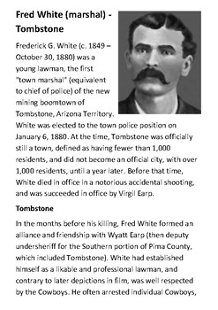 Fred White Handout