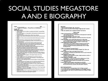 Fredderick Douglass  A and E Biography