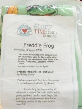 "Freddie Frog ""Froggy Gets Dressed"" Felt Flannel Board Story Set -Pre-Cut"