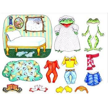 "Freddie Frog ""Froggy Gets Dressed"" Felt Flannel Board Stor"
