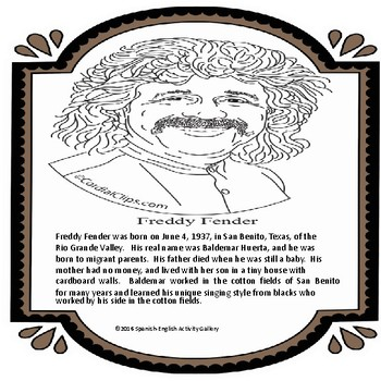 Freddy Fender-Hispanic Singer/Quick-Read & Activities