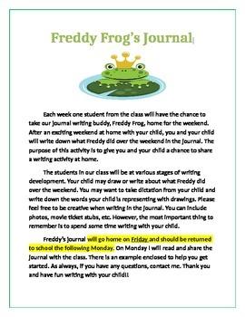Freddy Frog Take Home Journal!