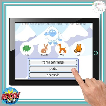 Categories NO PRINT Speech Therapy BOOM Cards™  Distance Learning