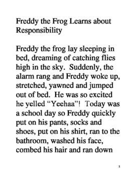 Freddy the Frog learns about responsibility