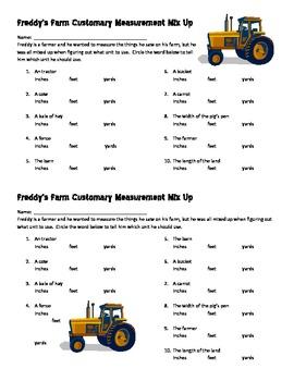 Freddy's Farm Customary Measurement Mix Up
