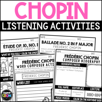 Frédéric Chopin, Classical Composer, Music Unit Study - March Birthday