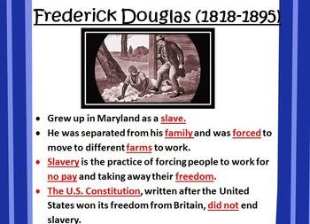 Frederick Douglas POWERPOINT- 3rd Grade Social Studies