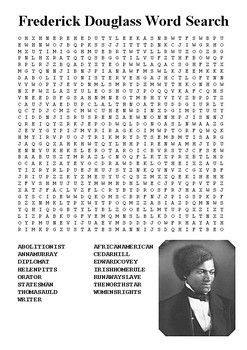 Frederick Douglass Word Search
