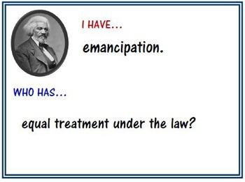 Frederick Douglass I Have Who Has