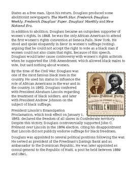 Frederick Douglass: His Life In His Own Words