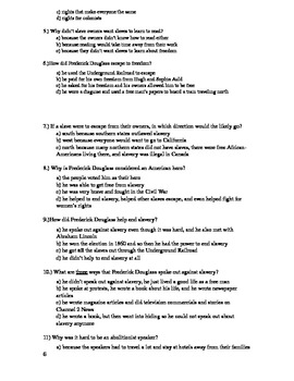 Frederick Douglass Assessments