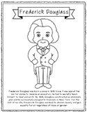 Frederick Douglass Biography Coloring Page Craft or Poster, African American