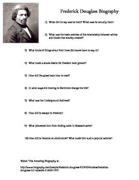 Frederick Douglass Biography - Online Biography.com Lesson
