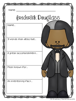 Frederick Douglass Biography Report Organizers ~ Black History Month