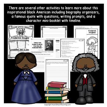 Frederick Douglass Biography w/Articles, Activities, Character Traits & Quiz