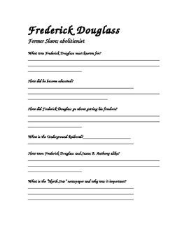 Frederick Douglass CRCT Review Worksheet