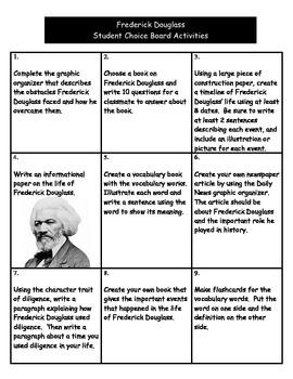 Frederick Douglass Choice Board