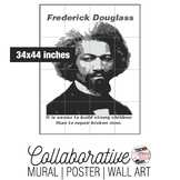 Frederick Douglass Collaborative Mural | Poster | Huge Wall Art