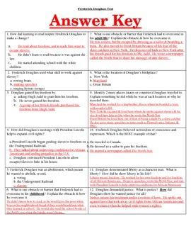 Frederick Douglass Combo Assessment & Study Guide!!!