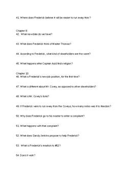 Frederick Douglass Comprehension Questions