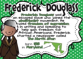 Frederick Douglass: Famous American Mini Unit {PowerPoint & Printables}