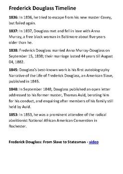 Frederick Douglass Handout