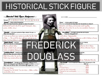 Frederick Douglass Historical Stick Figure (Mini-biography)