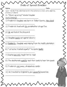 Frederick Douglass Language Review {Common Core Language Arts Practice}