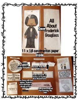 4th Grade (NEW GSE) Social Studies Frederick Douglass Lapbook