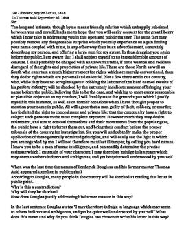 Frederick Douglass Letter to Former Master Thomas Auld