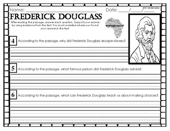 Frederick Douglass Mini Unit  Black History Month Activities