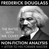 Frederick Douglass, Non-Fiction Analysis to use for ANY Novel with Slavery Theme