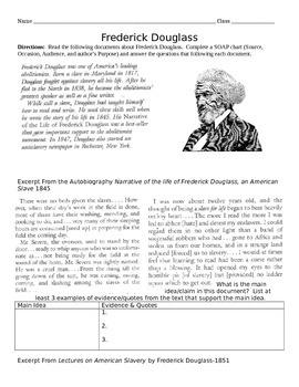 Frederick Douglass Primary Readings-Common Core