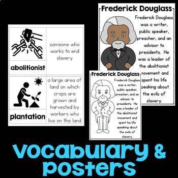 Frederick Douglass Reading Passage, Biography Report, & Comprehension