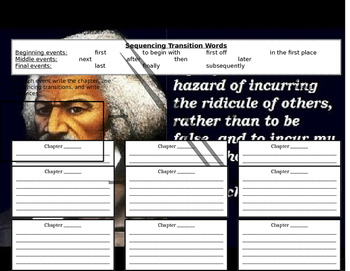 Frederick Douglass Sequencing of Events Graphic Organizer