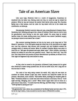 Frederick Douglass: Tale of an American Slave