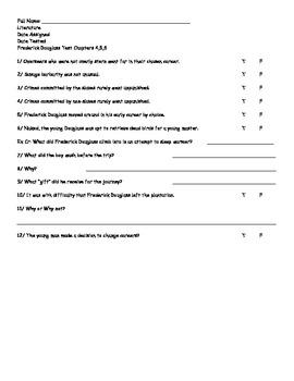 Frederick Douglass Test #4