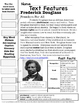 Frederick Douglass Text Features Page