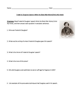 Frederick Douglass: What the Black Man Wants/Untie His Hands Test or Review