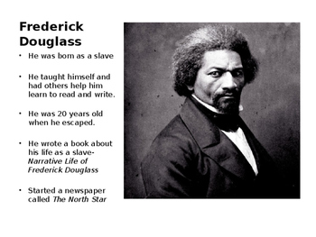 Frederick Douglass Word Wall- Editable