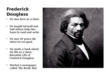 Frederick Douglass Word Wall- Editable