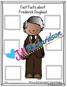 Frederick Douglass  Writing - Great Black History Month Activity